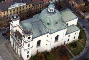 Alsóvárosi Nagyboldogasszony Püspöki Székesegyház légifotója